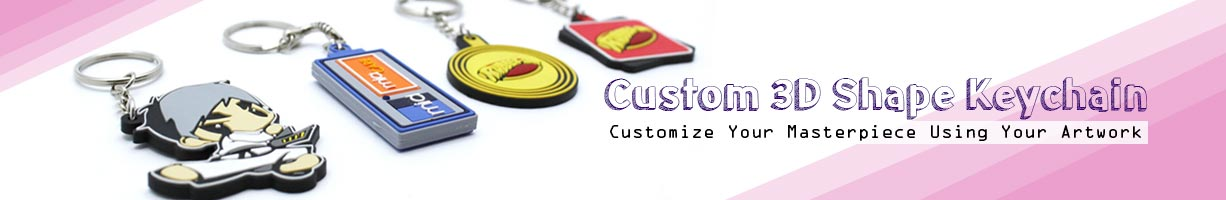 Custom 3D Shape Keychain