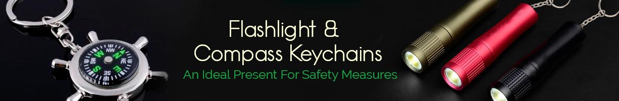 Flashlight & Compass Keychains
